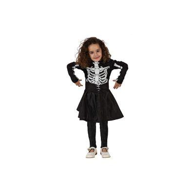 costume scheletro bambina Halloween