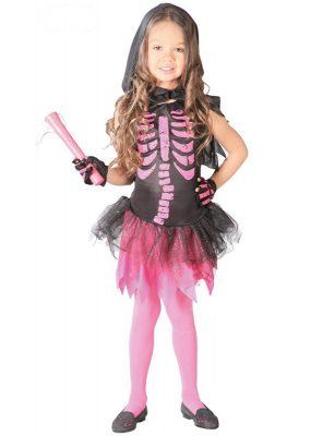 costume scheletro bambina Halloween 2018