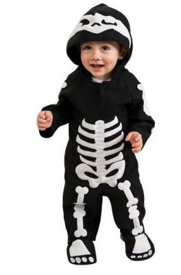 costume scheletro bimba Halloween 2018