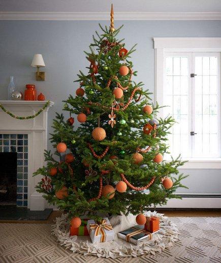 albero di natale arancione