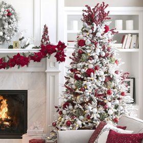 albero di natale 2018 bianco