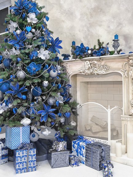 albero di natale 2018 blu