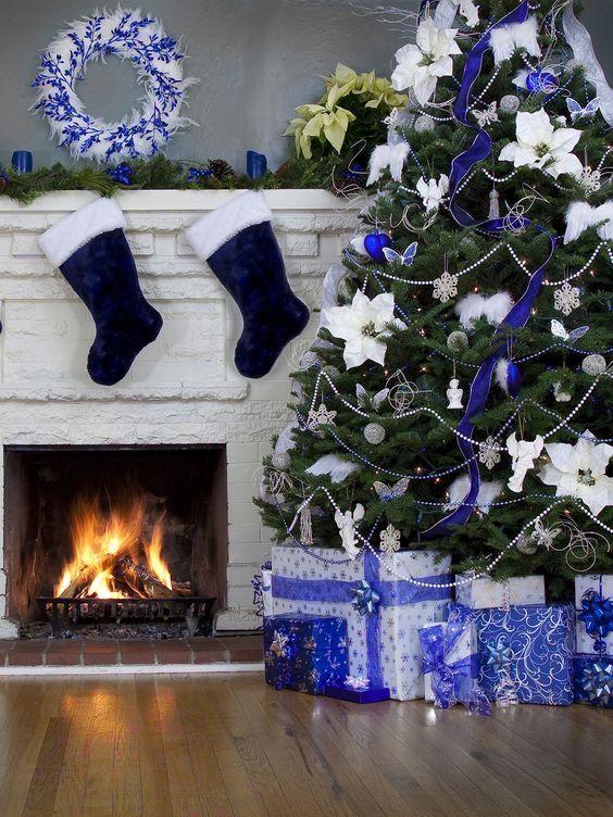 albero di natale blu 2018