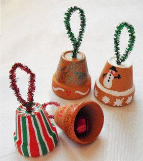 Decorazioni di Natale da fare con i bambini campanelle fai da te