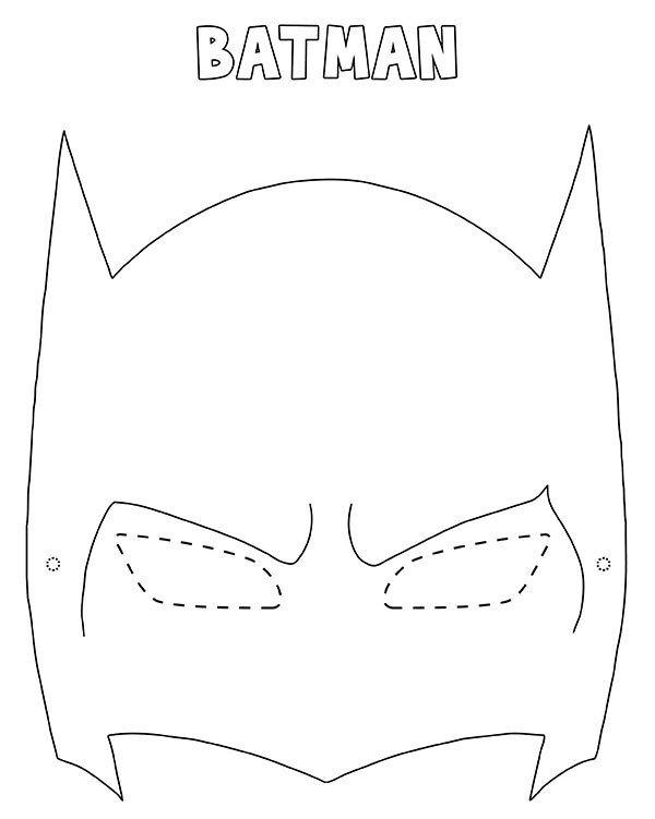 Maschera di Batman da stampare ritagliare e colorare