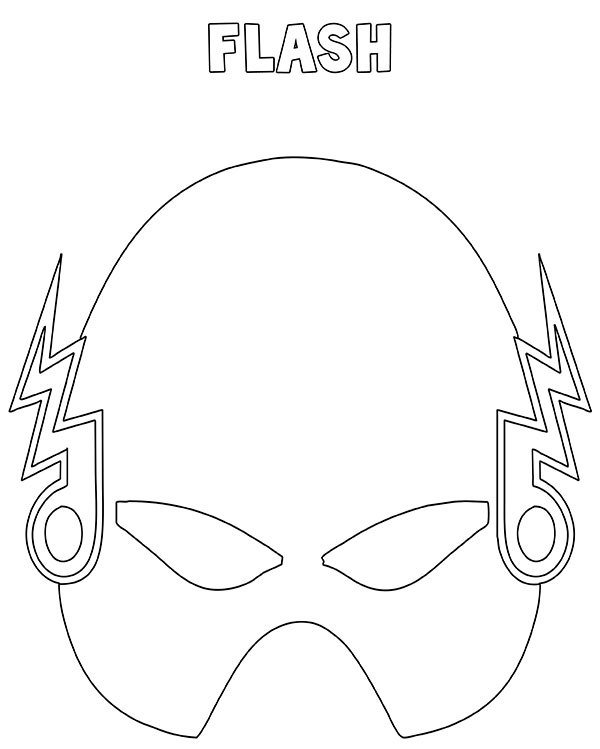 Maschera Flash da stampare ritagliare e colorare