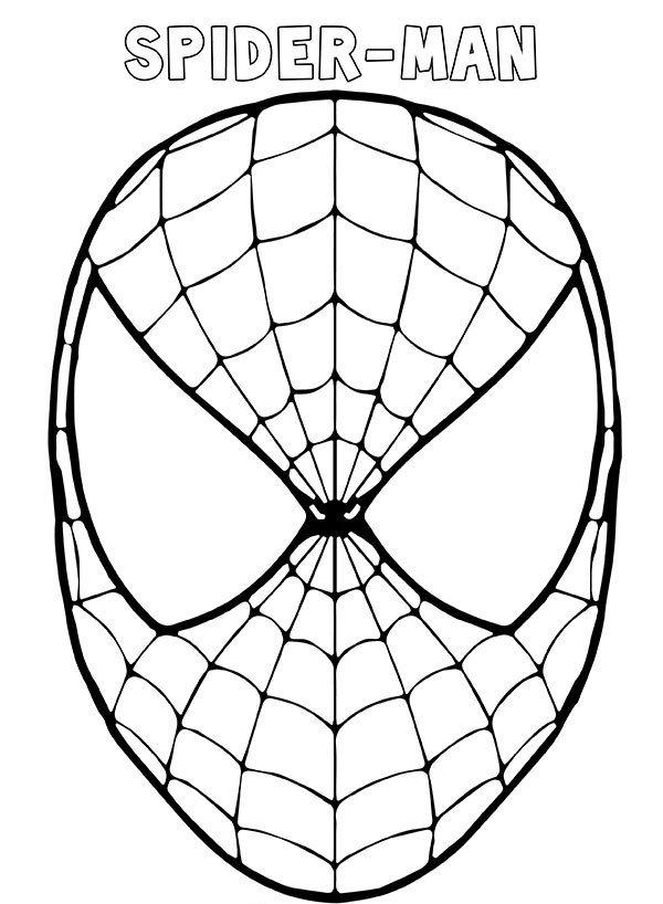 Maschera Spider Man da stampare ritagliare e colorare