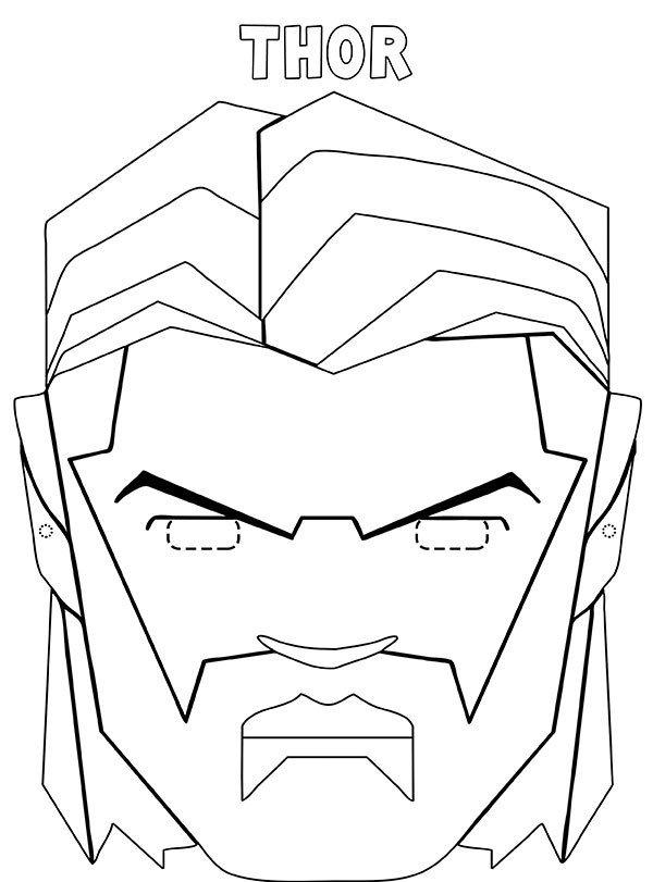 Maschera Thor da stampare ritagliare e colorare