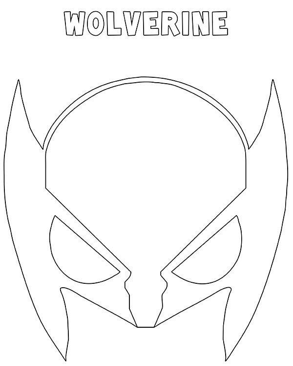 Maschera Wolverine da stampare ritagliare e colorare