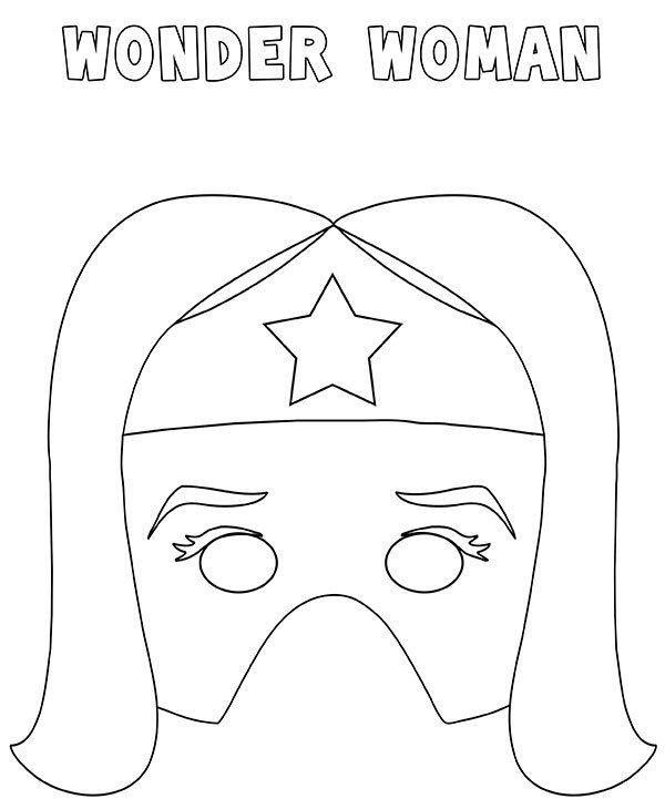 Maschera Wonder Woman da stampare ritagliare e colorare
