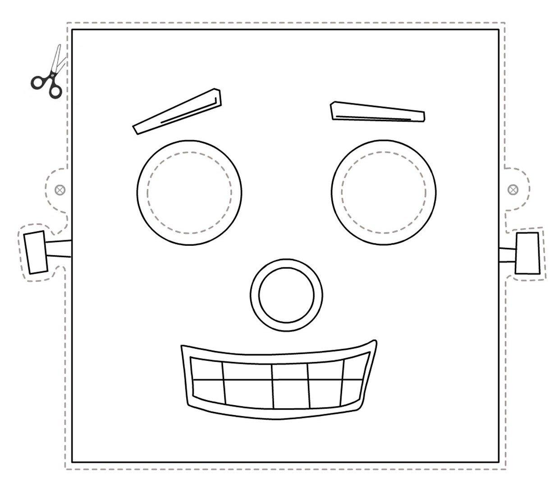 Maschera robot da stampare ritagliare e colorare