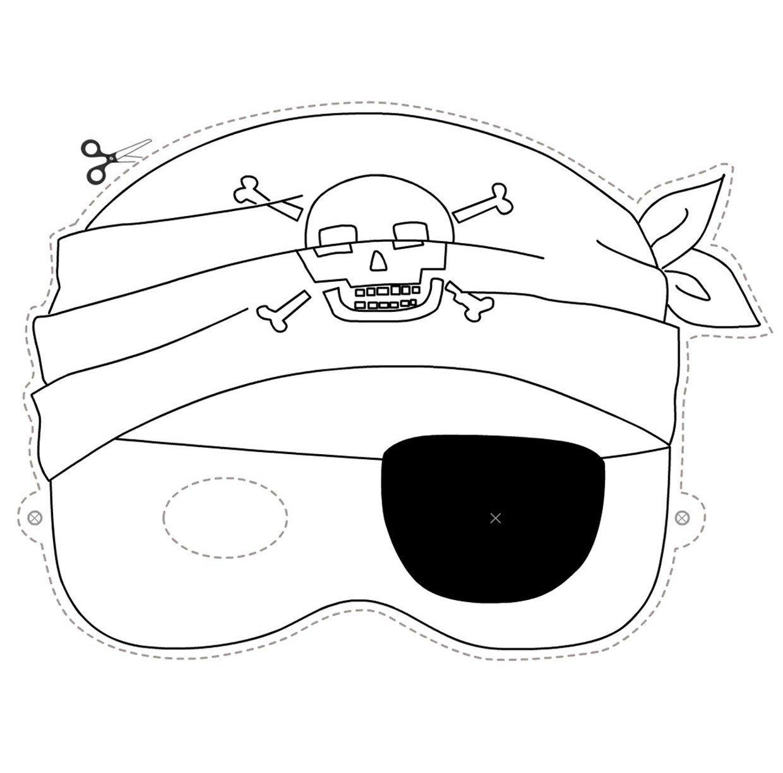 Disegno carnevale pirata da stampare ritagliare e colorare