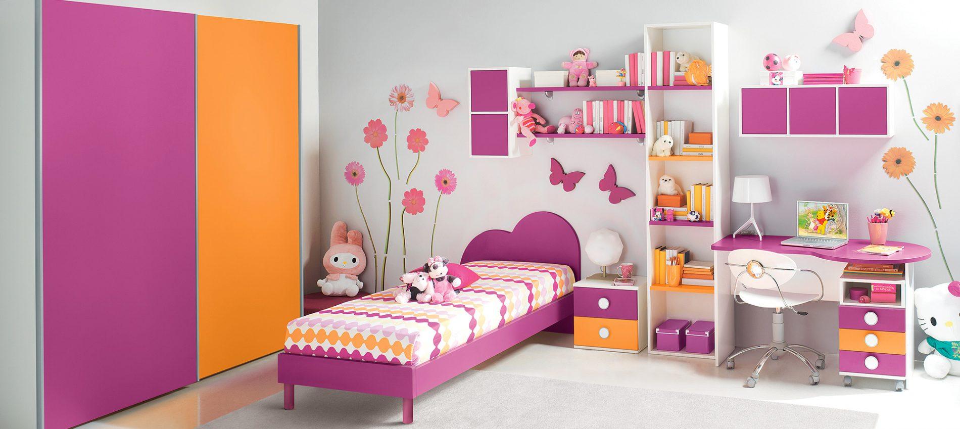 cameretta bambina rosa