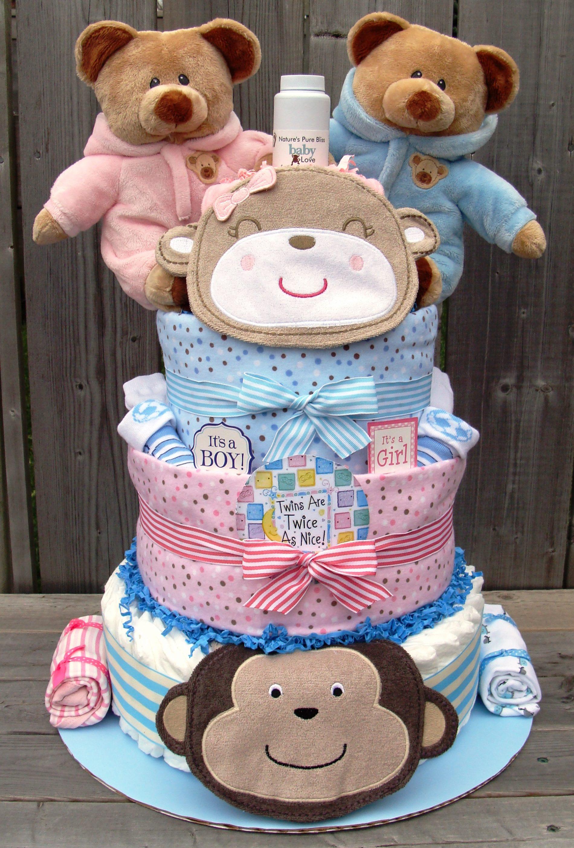 torta pannolini gemelli