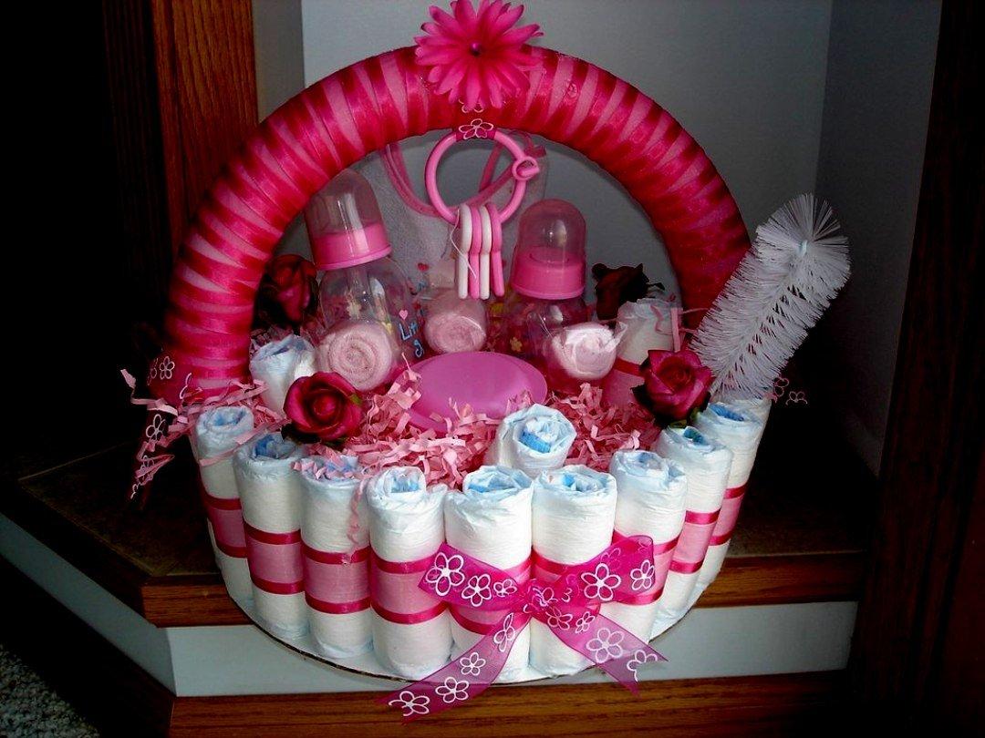 torta di pannolini bimba