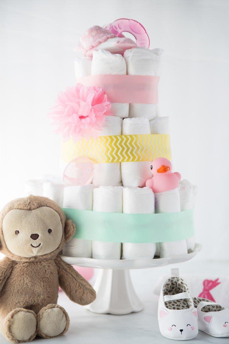 torta pannolini femminuccia