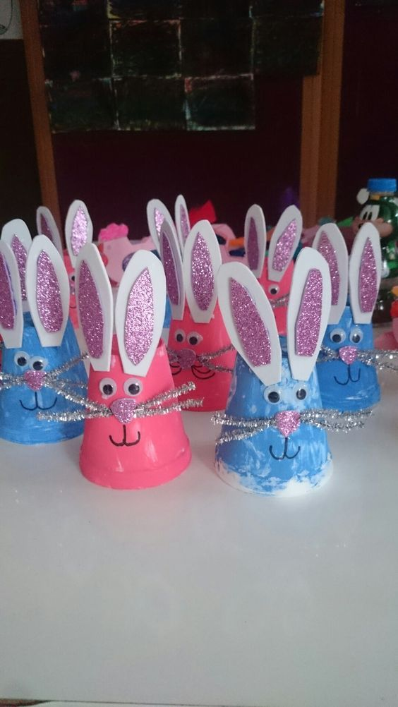 coniglietti pasquali da fare con i bambini