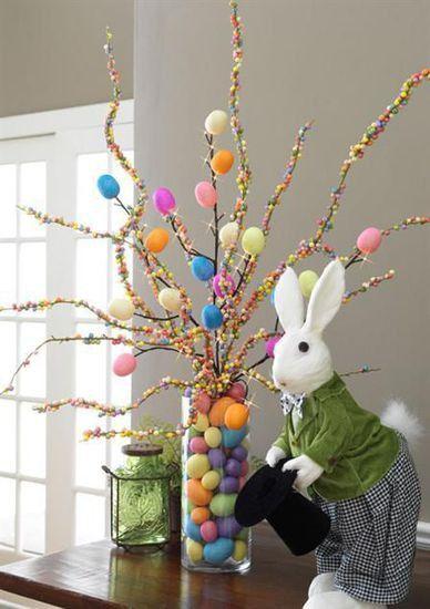 Albero di Pasqua in vetro