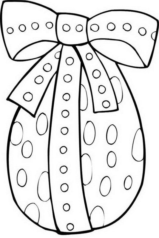 disegno uovo di pasqua da colorare