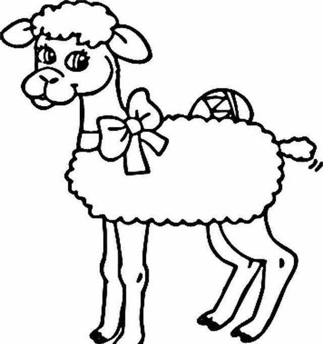 Pecorella di Pasqua da colorare