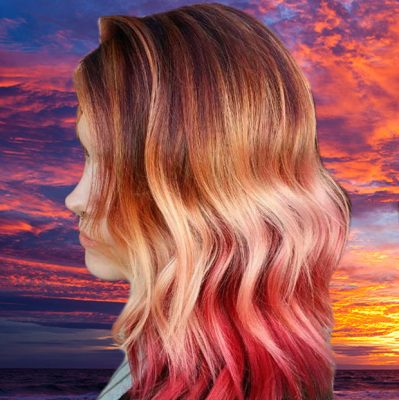 hair sunset