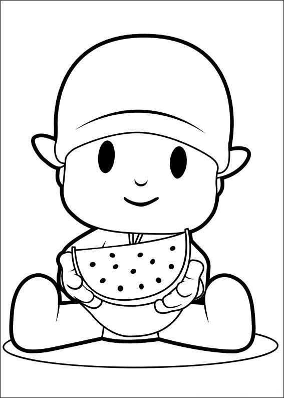 pocoyo disegno per bambini da scaricare gratis