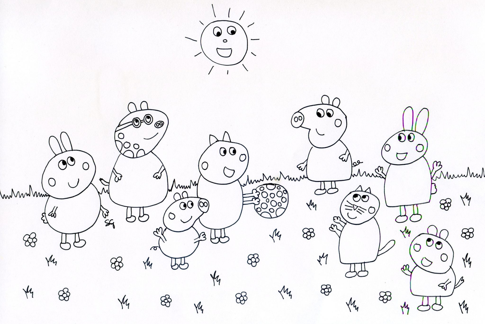 peppa pig immagini da colorare