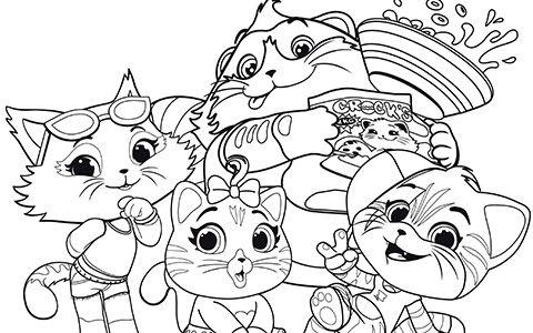 44 gatti disegni da colorare