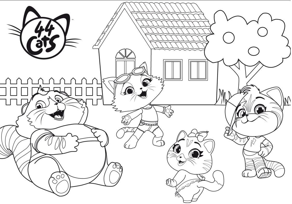 disegni da colorare e stampare 44 gatti