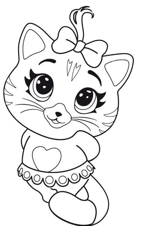 44 gatti cartone da colorare