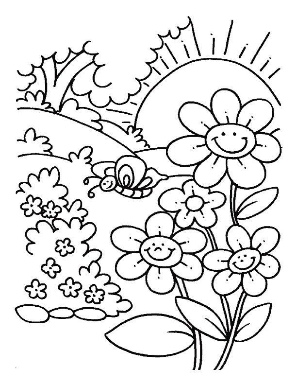 disegni primavera per bambini da stampare e colorare