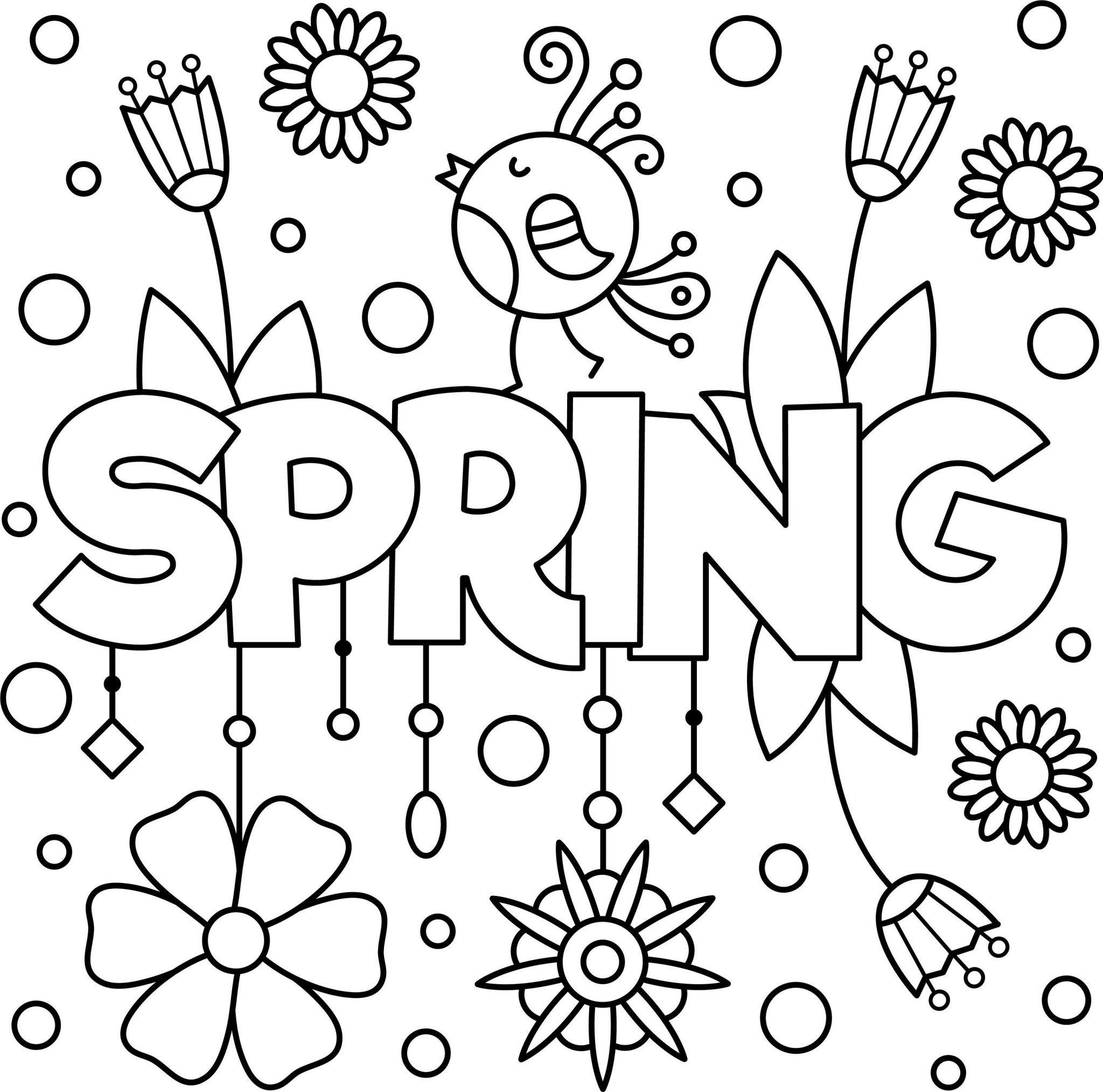disegni da colorare primavera