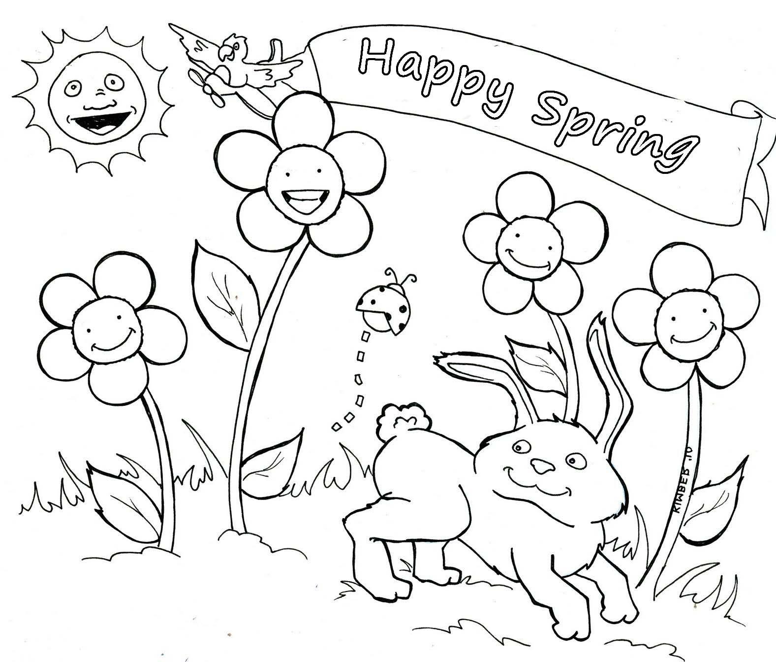 disegni di primavera da colorare