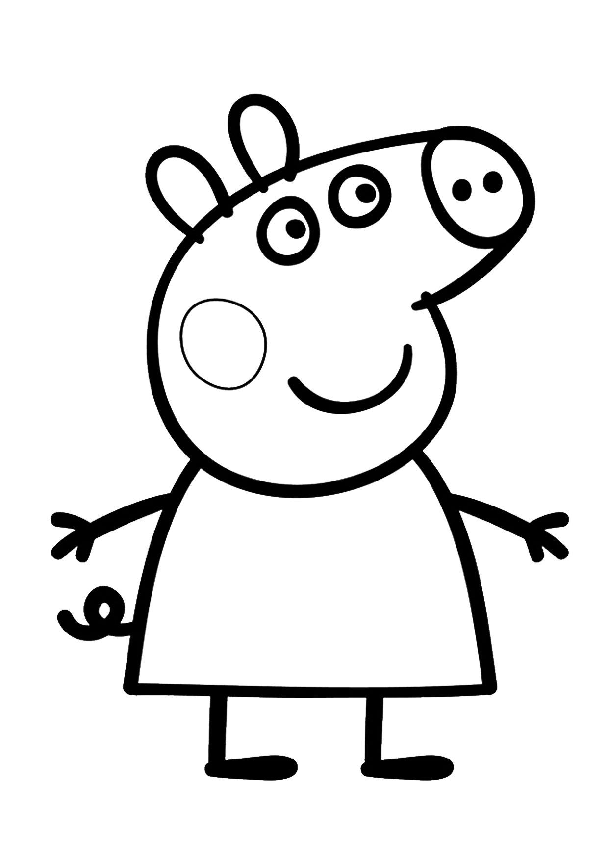Disegni da colorare Peppa Pig