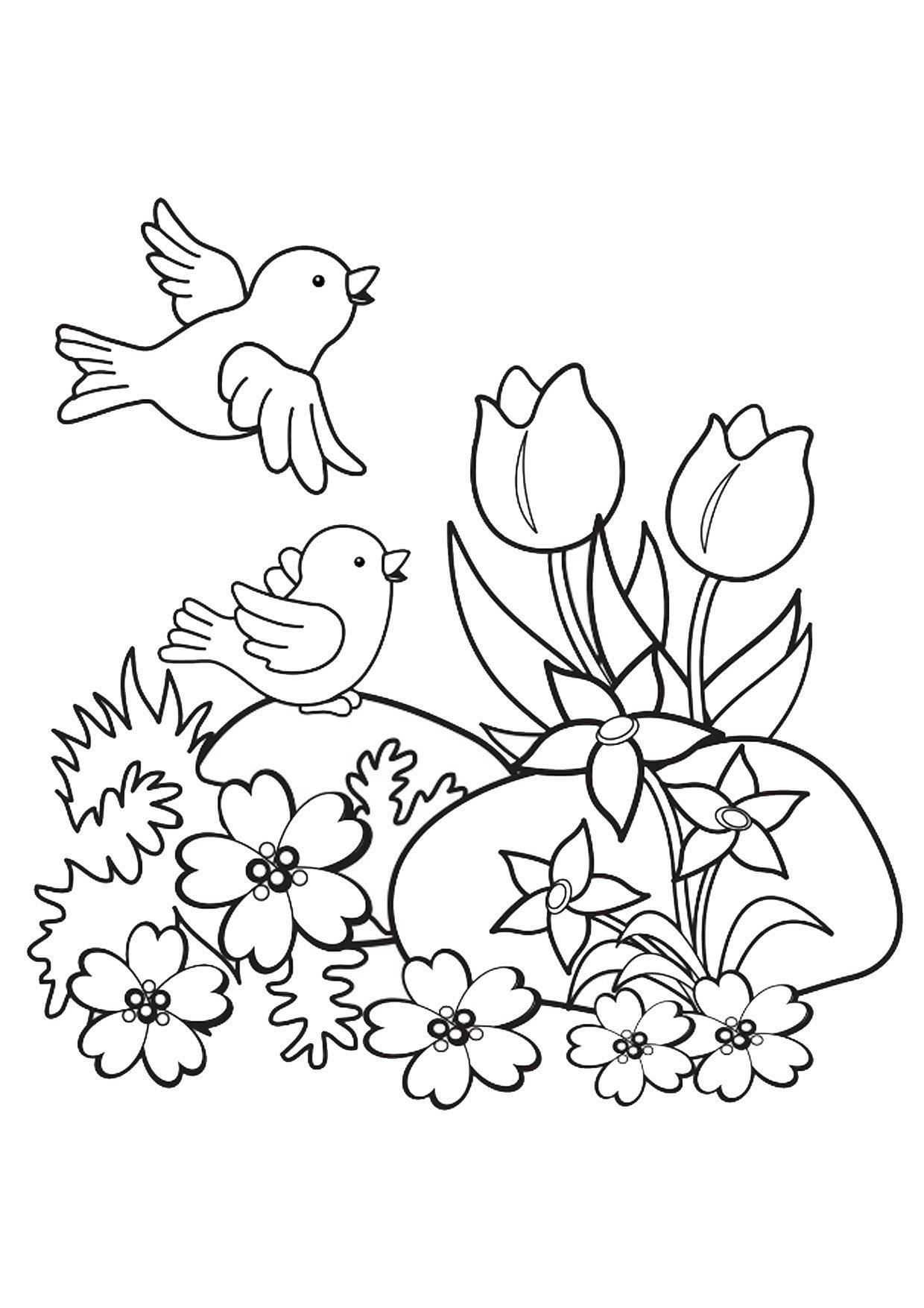 disegni sulla primavera da colorare