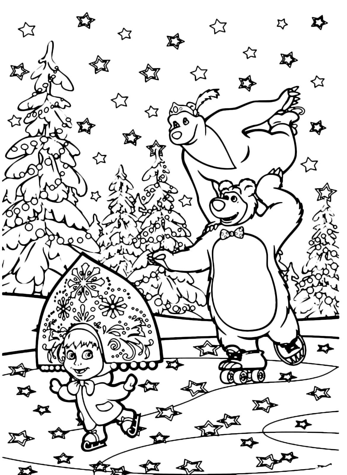 Masha e Orso disegni da colorare