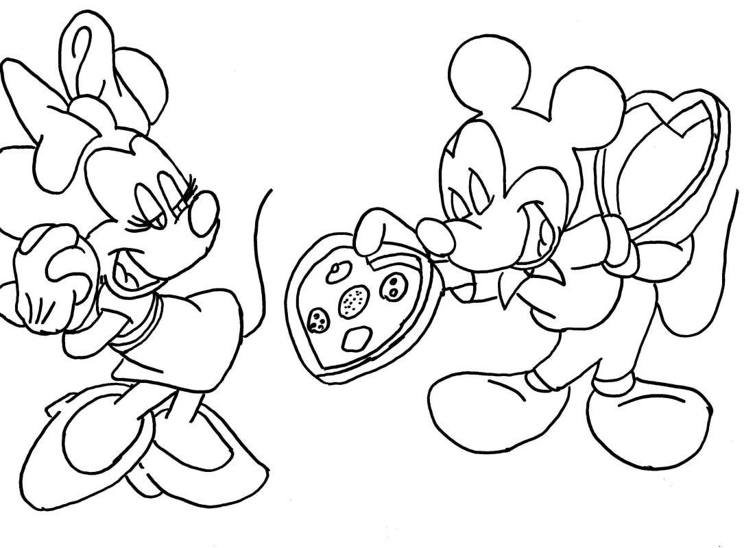 topolino da colorare