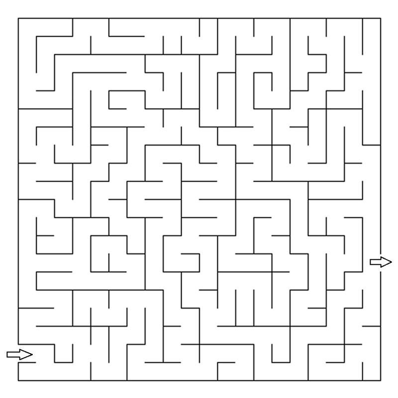 labirinti per bambini da stampare e colorare