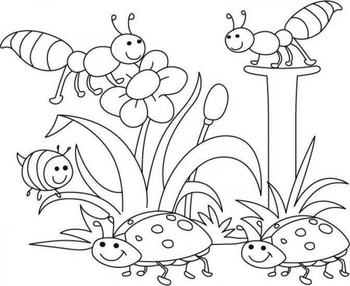 disegni primavera da colorare