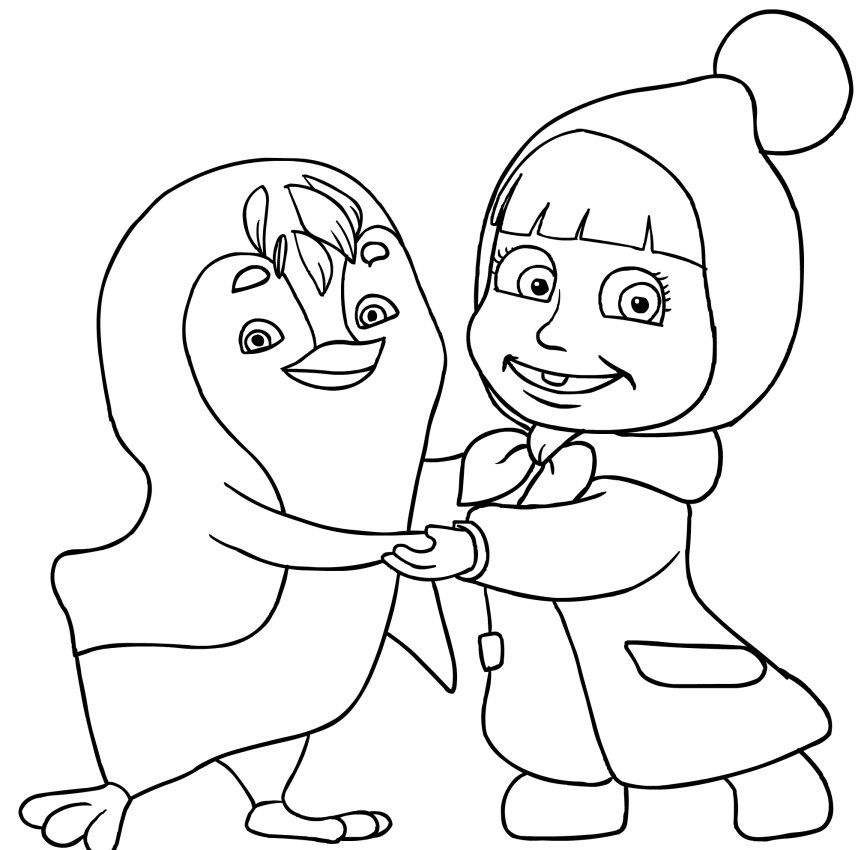 masha e orso disegno da colorare