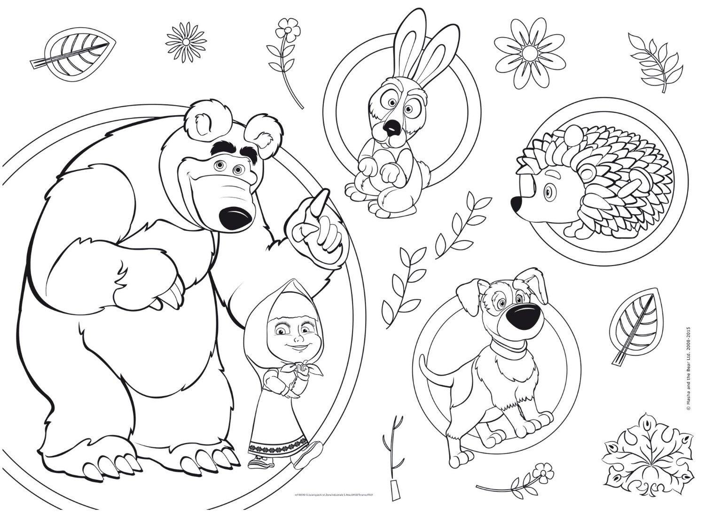 disegni da colorare masha e orso