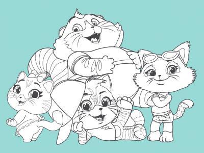 Disegni da stampare e colorare: 44 gatti