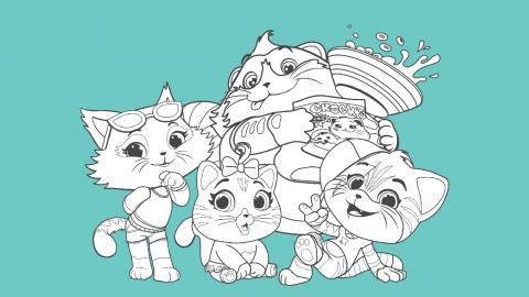 44 gatti da colorare e stampare