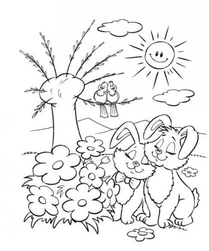 disegni da stampare primavera
