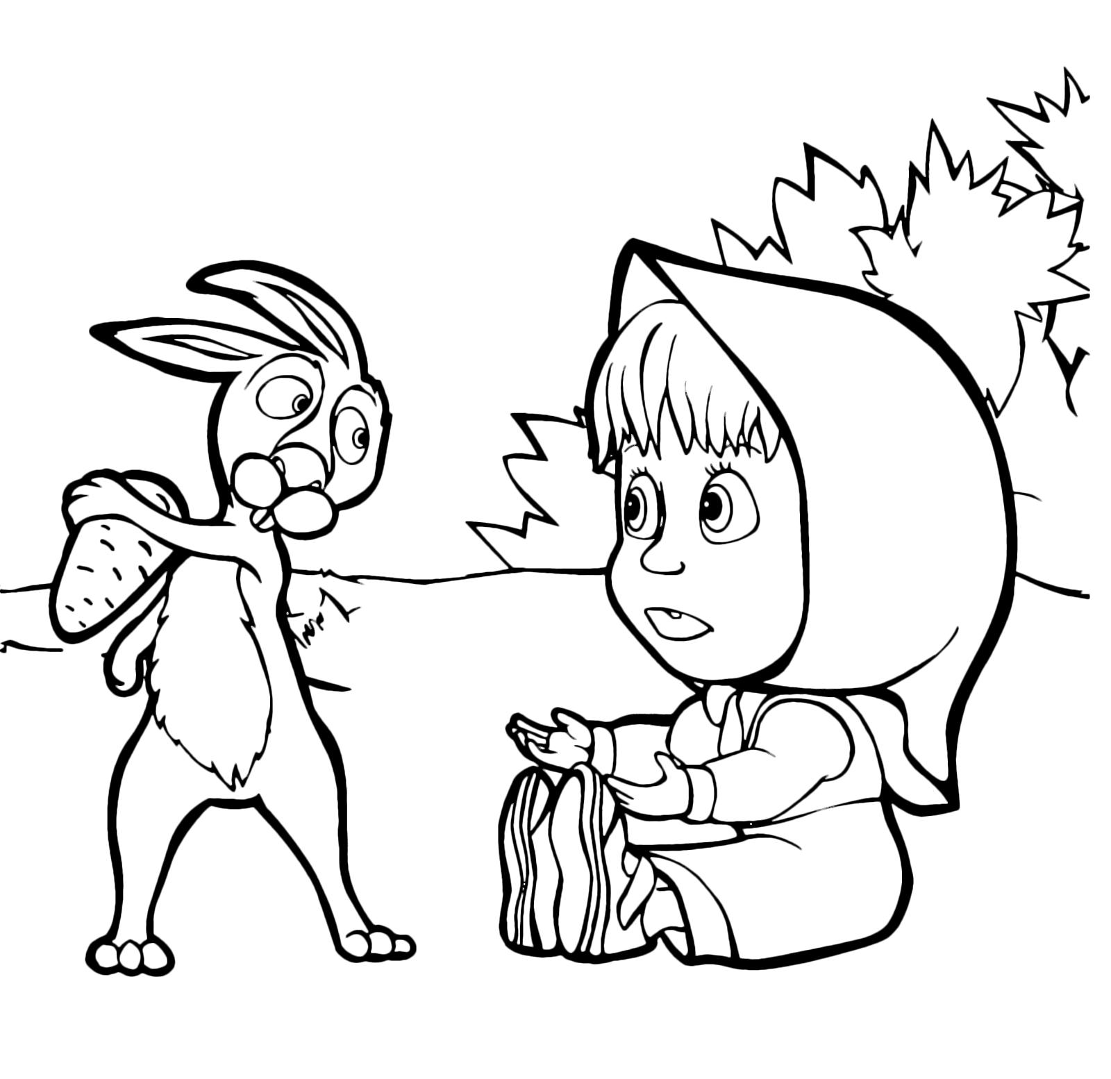 masha da disegnare