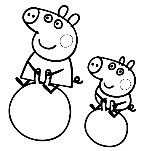 peppa pig disegni da colorare