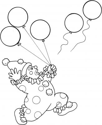 palloncino da colorare