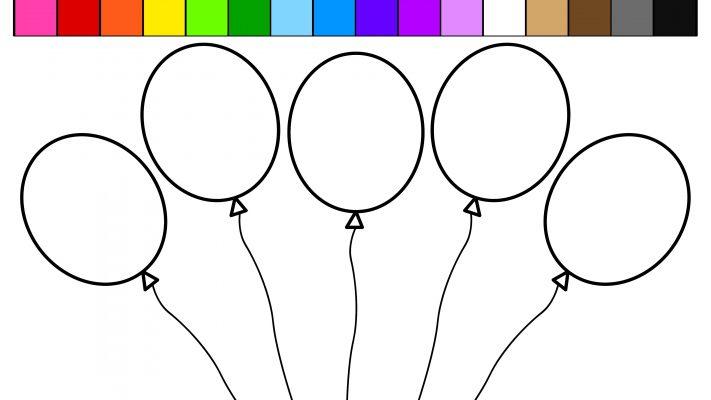 palloncini colorati stampare