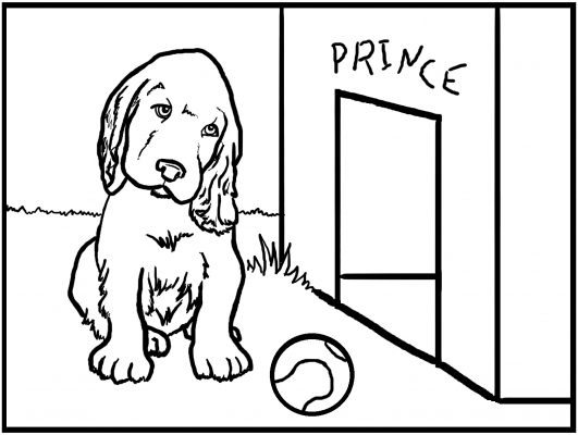 cani da colorare e stampare per bambini