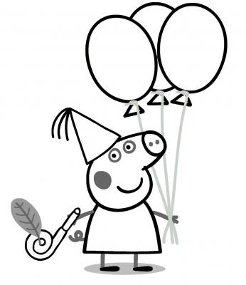 disegno palloncini